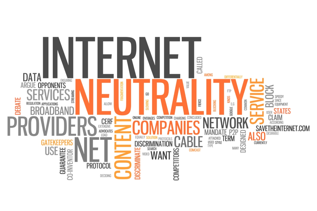 Word cloud of terms related to net neutrality
