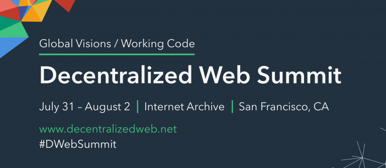 Announcement of the 2nd Decentralized Web Summit
