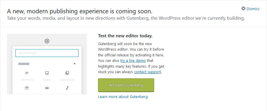 GutenbergInvite_Screenshot_2018-11-04 Dashboard ‹ Michael McCallister Notes from the Metaverse — WordPress